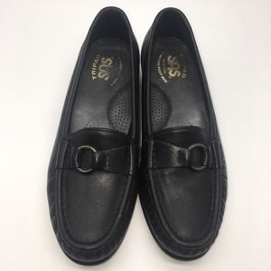 SAS Tripad Comfort Black Flat Loafer Shoes 5.5 M